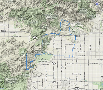 Map Of Chatsworth Ca Chatsworth, CA Information